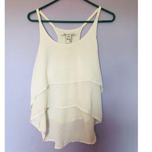 american rag white ruffle camisole